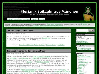 Screenshot der aktuellen Website (April 2007)