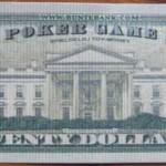 Zwanzig-Dollar-Schein hinten