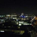 Aussicht vom 18. Stock über den Münchener Ostbahnhof