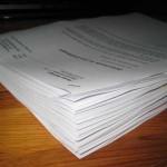 Die Dokumente für den Anwalt