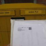 Und ab die Post...