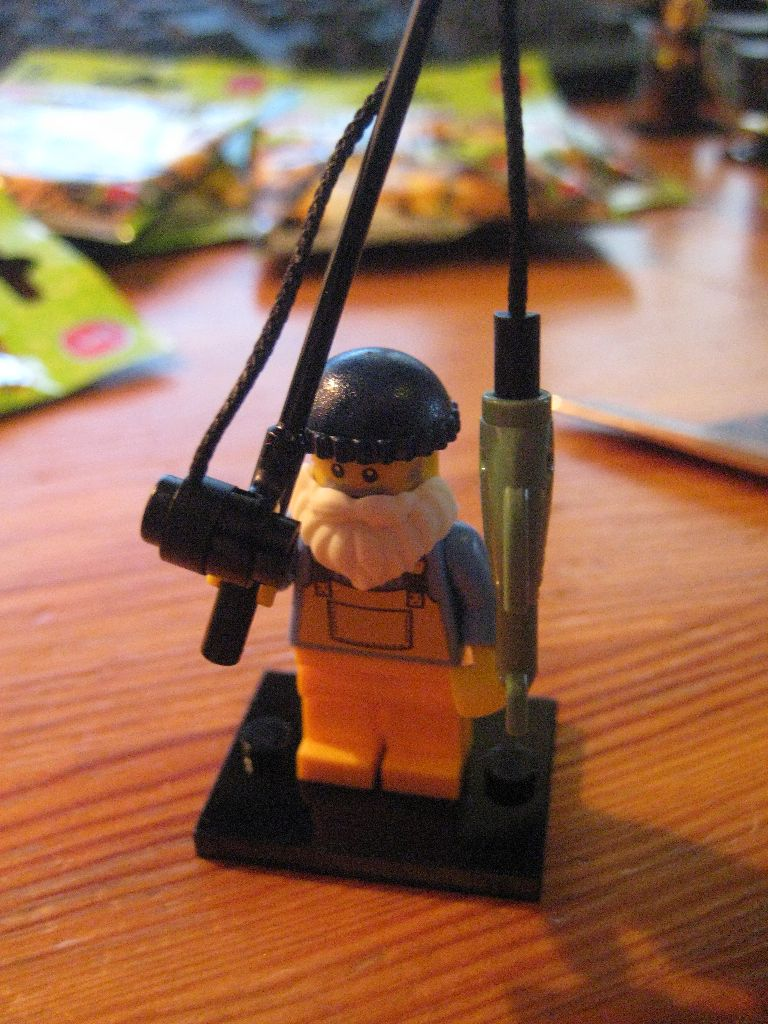 Lego Minifigure Man With Rubber Ring Series