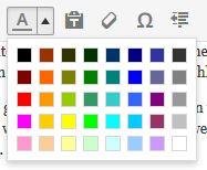 Farben im WordPress Editor