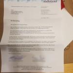 Das Schreiben von Adelholzener
