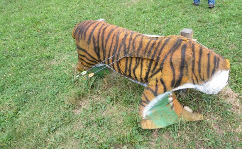 Der Tiger ist tot: Florian beim 3D Parcour