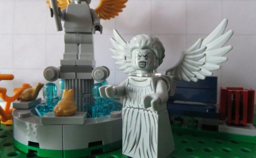 Lego Springbrunnen mit Statue