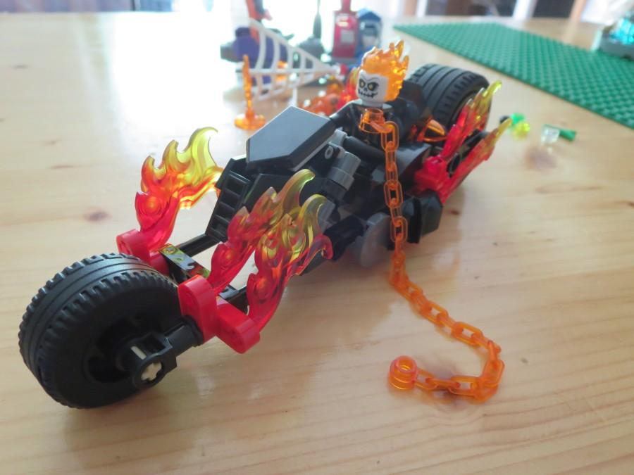 Ghost Rider Statue Destroys Glass Cabinet